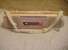 Pink Panasonic RX-FM14, we took it absolutely everywhere! We even recorded kitty cot's mews on a cassette with it @Marcela Nuñez and @Patricia Chaidez