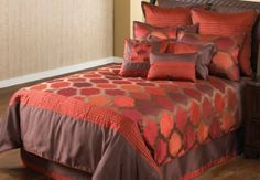 Amazon.com: Hallmart Collectibles 49393 Redberry Red Ikat King Size Comforter Set, 10-Piece: Home & Kitchen