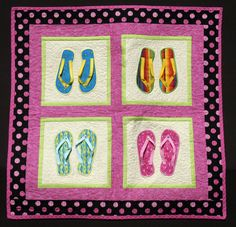 Flip Flop Qilted Wall Hanging by FLsunnygirl on Etsy
