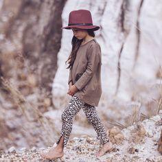 Zipped Safari Leggings