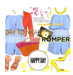"""""""Day to Night: Rompers"""" by stacey-lynne ❤ liked on Polyvore featuring Elina Linardaki, Balenciaga, Oscar de la Renta, Fendi, Slate & Willow, Cappelli, Gianvito Rossi, BoConcept, INC International Concepts and Lilly Pulitzer"""