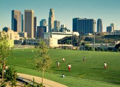 Soccer Field - Downtown - Los Angeles, California - 35mm Film