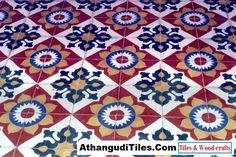 Com - Athangudi Tiles - Tile Designs Room Wall Tiles, Best Architects, Bedroom Bed Design, Indian Crafts, Indian Homes, Handmade Tiles, World Of Color, Tile Design, Wood Crafts