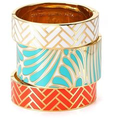 kate spade new york Off the Beaten Path Bangle | Bloomingdale's ❤ liked on Polyvore featuring jewelry, bracelets, star bangle, bangle jewelry, hinged bangle, enamel jewelry and stacked bangles