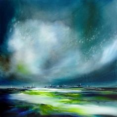 Flat Lands by Alison Johnson Lacey Contemporary Gallery Notting Hill London Landscape Painting