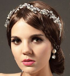 Ivory pearl Rhinestone Crystal Bridal Hair by BewitchingLace, £33.00