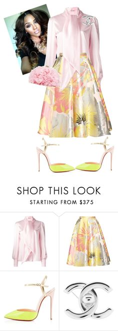 """""""Sunday Morning!!"""" by cogic-fashion ❤ liked on Polyvore featuring Yves Saint Laurent, Rochas, Christian Louboutin, Chanel and Betsey Johnson"""