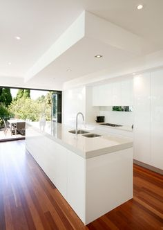 Spiegel randje Modern Kitchen Design Ideas, Pictures, Remodel and Decor