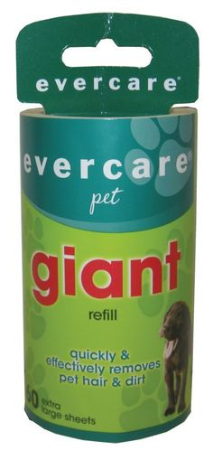 Evercare Giant Lint Roller Refill, 60 Sheets Roll ** More info could be found at the image url. (This is an affiliate link and I receive a commission for the sales)