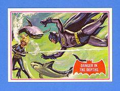 Danger IN THE Depths 1966 Topps Batman A Series RED BAT 14A Nrmint Mint   eBay