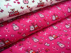 bavlněný+úplet+-+sovičky+na+růžovém+š.150cm+Bavlněný+nádherný+úplet,+růžový+podklad+se+sovičkami,+krásně+splývavý+a+na+těle+příjemný.+Vhodný+na+oblečení+od+čepice+po+tepláky.+složení:+95%+ba+a+5%+elastan+gramáž:+200g/m2+šíře:+150cm+prát+na+30+stupňů+Cena+je+za+0,5m+při+zadání+více+kusů,+bude+látka+v+celku