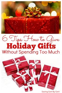Trying to find the perfect Christmas presents for your loved ones for the holidays, without spending too much money or going into debt to pay for all of the holiday items, can be difficult. You want to give gifts that are nice and thoughtful, without looking like you are skimping on gifts. So how do you give during the holidays without spending too much? Here are 6 tips to help you out. // Holiday budget // How to spend less at Christmas // Christmas spending budget // Holiday spending money // Frugal Christmas, Best Christmas Gifts, Christmas Christmas, Christmas Presents, Holiday Gifts, Living On A Budget, Frugal Living, Christmas Present For You, Budget Holidays
