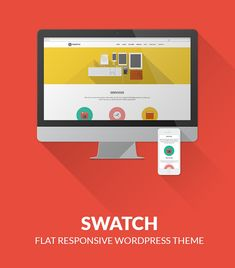 "Swatch - Flat Responsive Multi-Purpose WP Theme | New Updated Version 1.3 – WOOCOMMERCE Supported! | Swatch is a flat, super configurable and fully responsive WordPress Theme. Swatch takes the new ""Flat Design"" philosophy and puts you in control of how the theme can look as much as possible. 