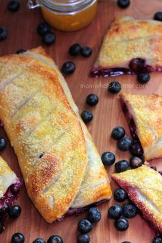Blueberry Peach Cream Cheese Strudel