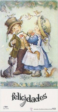 Ferrandiz Spanish Painters, Holly Hobbie, Big Eyes, Vintage Cards, Decoupage, Cute Kids, Illustrators, Kids Toys, Art For Kids