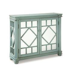 Add mirrored doors to built-in shelves