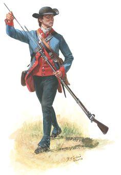 """Fuciliere del 2 rgt. di fanteria americana continentale """"New Hampshire"""" - Don Troiani"""