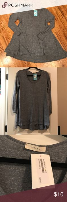 Navy-Grey Tunic Very soft and cozy Navy-grey tunic. Size S, but it looks like it might fit a Medium as well. Would go great with leggings or skinny jeans. New, with tags. Tops Tunics