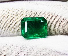 7.24 Ct Fine Natural Emerald Octagon Zambia UnTreated Loose GemStone #RareGemIN