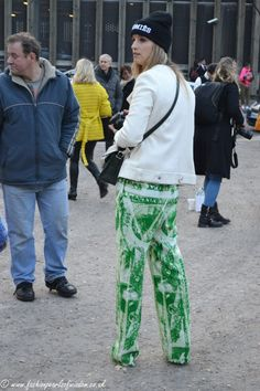 Dollar print trousers