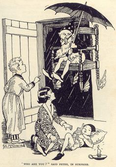 """Hilda McGavin illustration from  """"Adventures of the Wishing Chair"""" by Enid Blyton"""