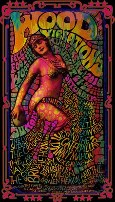 This Poster Was Commissioned for The Wood Vibrations Festival. It Measures And Is On Acid Free Poster Stock. This Poster Is An Instant Classic And Collectable. Pick One Up At The Official Website For Darren Grealish Posters, Band Merch And Illustration. Rock Posters, Music Posters, Psychedelic Gif, Psychedelic Posters, Images Pop Art, Art Hippie, Psychadelic Art, Psy Art, Kunst Poster