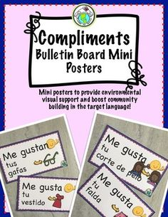 Compliments Mini Posters for Spanish Class