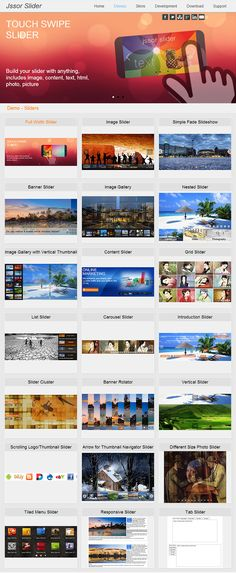 "jQuery Image Slider/Slideshow/Carousel/Gallery/Banner javascript html TOUCH SWIPE Responsive"" title=""Share on Pinterst"