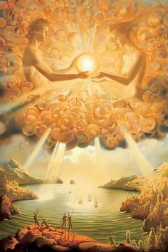 SACRED GIFT by Vladimir Kush Meet the new Salvador Dali; the incredibly luminous and inspirational art of Vladimir Kush Vladimir Kush, Tantra, Fantasy Kunst, Fantasy Art, Art Visionnaire, Images Gif, Bing Images, Visionary Art, Wassily Kandinsky