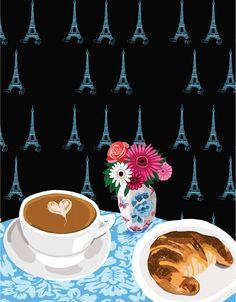 Breakfast in Paris ~~ Art Print