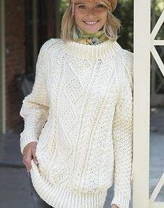 Free Knting Pattern from Ravelry: Boyfriend's Cable Pullover Sweater pattern. Love this loose and comfy looking pattern.