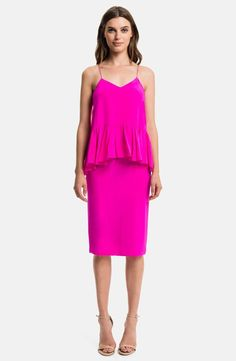 Black Halo Pink Valentina' Peplum Sheath Short Cocktail Dress Size 4 (S) Pink Fashion, Fashion Outfits, Women's Fashion, Pink Midi Dress, Peplum Dress, Short Cocktail Dress, Couture, Nordstrom Dresses, Pretty Dresses