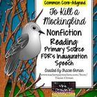 To Kill a Mockingbird Nonfiction Reading Activity: FDR Inauguration Speech