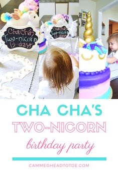 Cha Cha's Two-nicorn Birthday Party  Toddler girl birthday party theme  Unicorn birthday party
