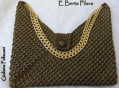 #borsa Masa in cordino color bronzo e lamè oro# #bag Masa#