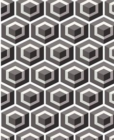 cubes Handmade tiles can be colour coordinated and customized re. shape, texture, pattern, etc. by ceramic design studios Geometric Tiles, Hexagon Tiles, Geometric Patterns, Textile Patterns, Print Patterns, Pattern Recognition, House Tiles, Small Garden Design, Handmade Tiles