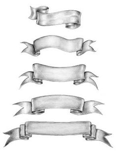 Old-style ink-and-pencil drawings of ribbon banners Royalty Free Stock . Pencil Drawings, Art Drawings, Décoration Harry Potter, Tattoo Banner, Banner Drawing, Ribbon Banner, Pyrography, Art Reference, Design Elements
