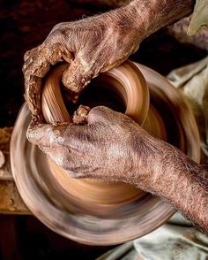 """A pottery wheel spins as a potter molds…"""" Photo by Hasan Talal Tiwana Pottery Wheel, Celebrity Couples, True Colors, Instagram Posts, Pakistan"""