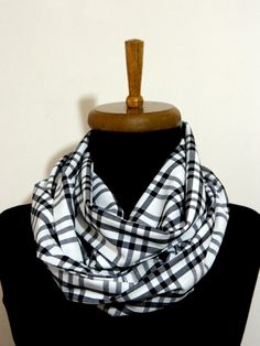 Men Scarfinfinity scarf Plaid Infinity Scarf by WomanStyleShop, $22.00