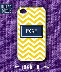 Chevron case with Your initials for iPhone 4/4s, iPhone 5, Samsung Galaxy S3 - Accessories for iPhone - iPhone5 Case - $16.80  at http://casebyamy.etsy.com