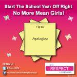 No More Mean Girls! Tip #12 - Apologize