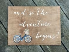 and so the adventure begins sign Wooden Wedding Signs Wood