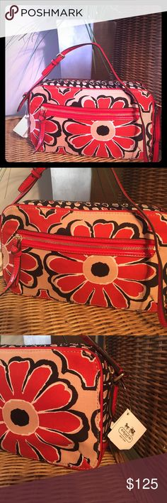 NWT Coach Poppy Floral Scarf Print Flt Please feel free to ask questions...(40) Coach Bags Crossbody Bags