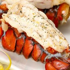 Broiled lobster with garlic. Raw lobsters cooked in boiling water and broiled in broiler.Very delicious!