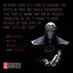 States of mind to avoid. Martial arts quotes