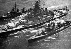"""lex-for-lexington: """" Battleship USS Massachusetts refuels two Fletcher-class destroyers. Naval History, Military History, New Battleship, Uss Massachusetts, Fletcher Class Destroyer, Navy Coast Guard, Model Warships, Us Battleships, Heavy Cruiser"""