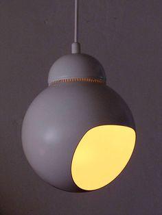 Alvar Aalto; #A338 Enameled Steel 'Bilberry' Ceiling Light, 1950.