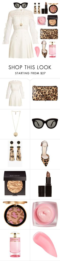 """pink leopard 🐆"" by theodor44444 ❤ liked on Polyvore featuring self-portrait, Dolce&Gabbana, Givenchy, Victoria Beckham, Chico's, Francesco Russo, Laura Mercier, Too Faced Cosmetics, Prada and Kevyn Aucoin"