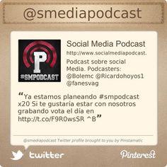 "Perfil oficial de www.socialmediapodcast.es ""tu podcast de #socialmedia"""