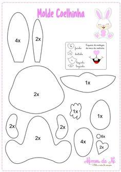 Volete creare il pupazzo di carta di un coniglietto pasquale? Avete bisogno di un cartamodello per i vostri lavori di carta, di feltro o pannolenci? Avete bisogno di un pattern per i vostri biglie…